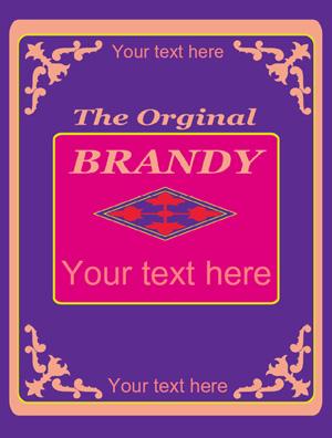 Rótulo Brandy 004