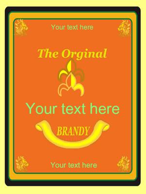 Rótulo Brandy 005
