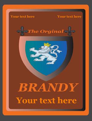 Rótulo Brandy 007