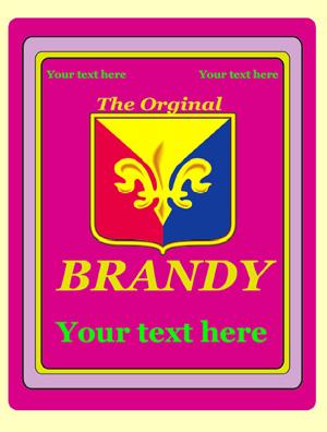 Rótulo Brandy 008