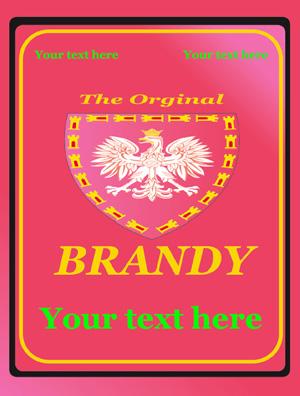 Rótulo Brandy 009